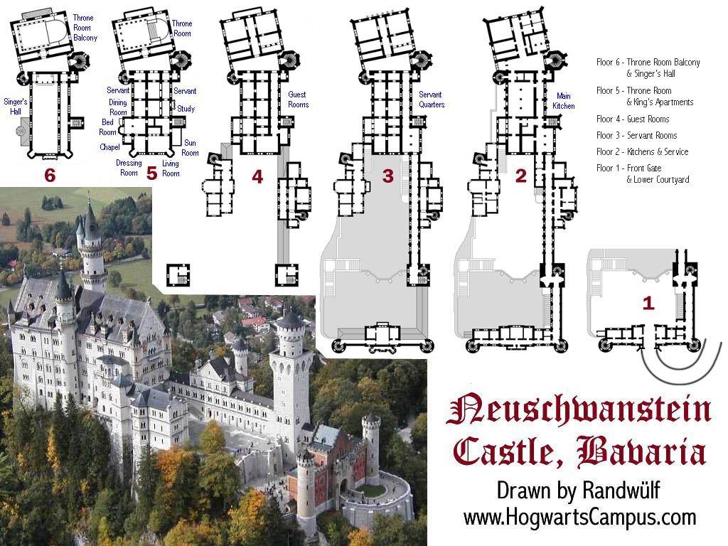 Neuschwanstein Castle Floorplan http//www