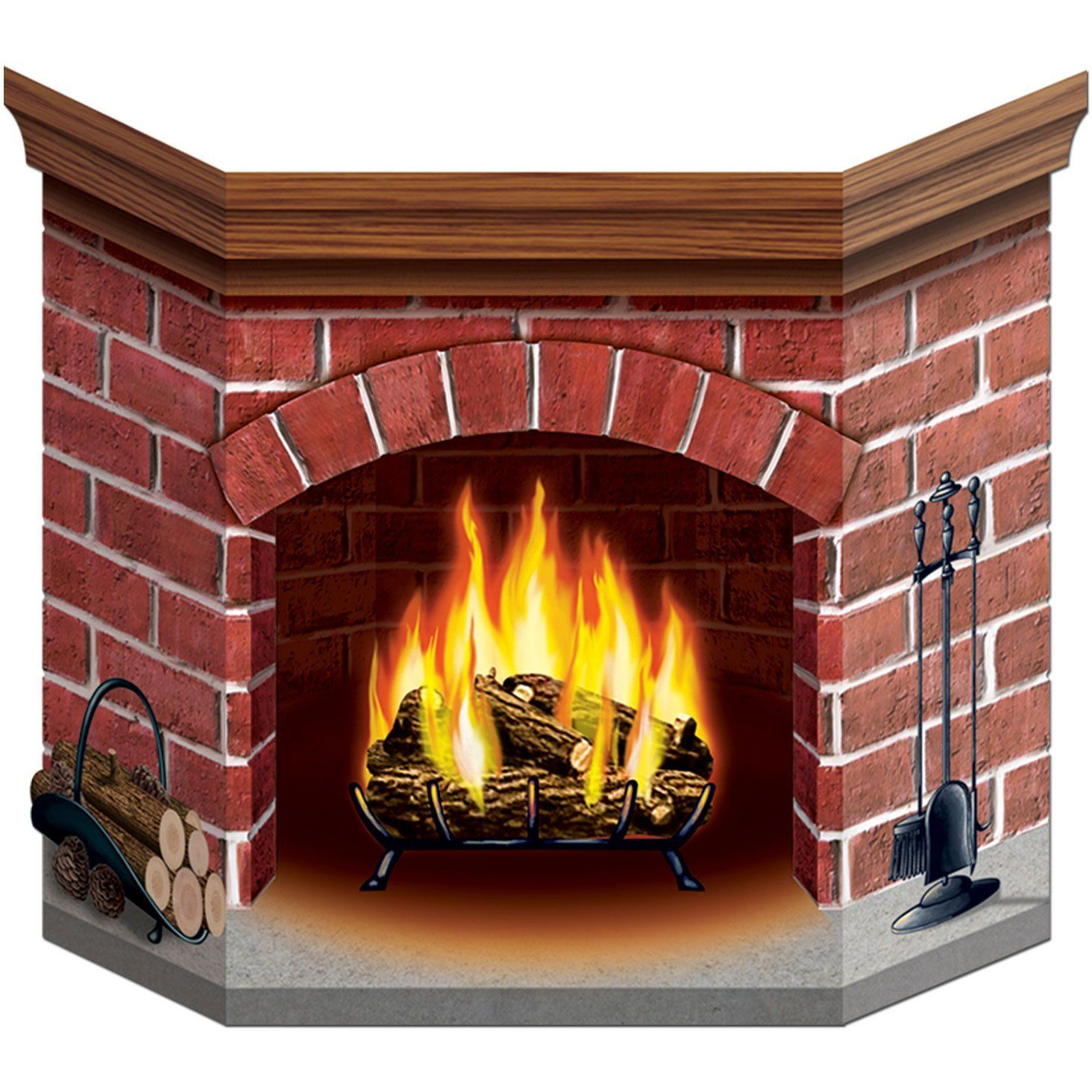 Box and Cardboard fireplace