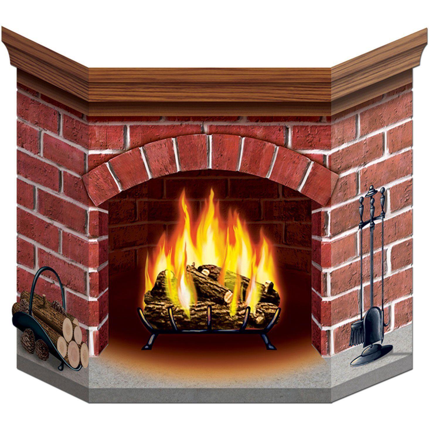 Box and Cardboard fireplace