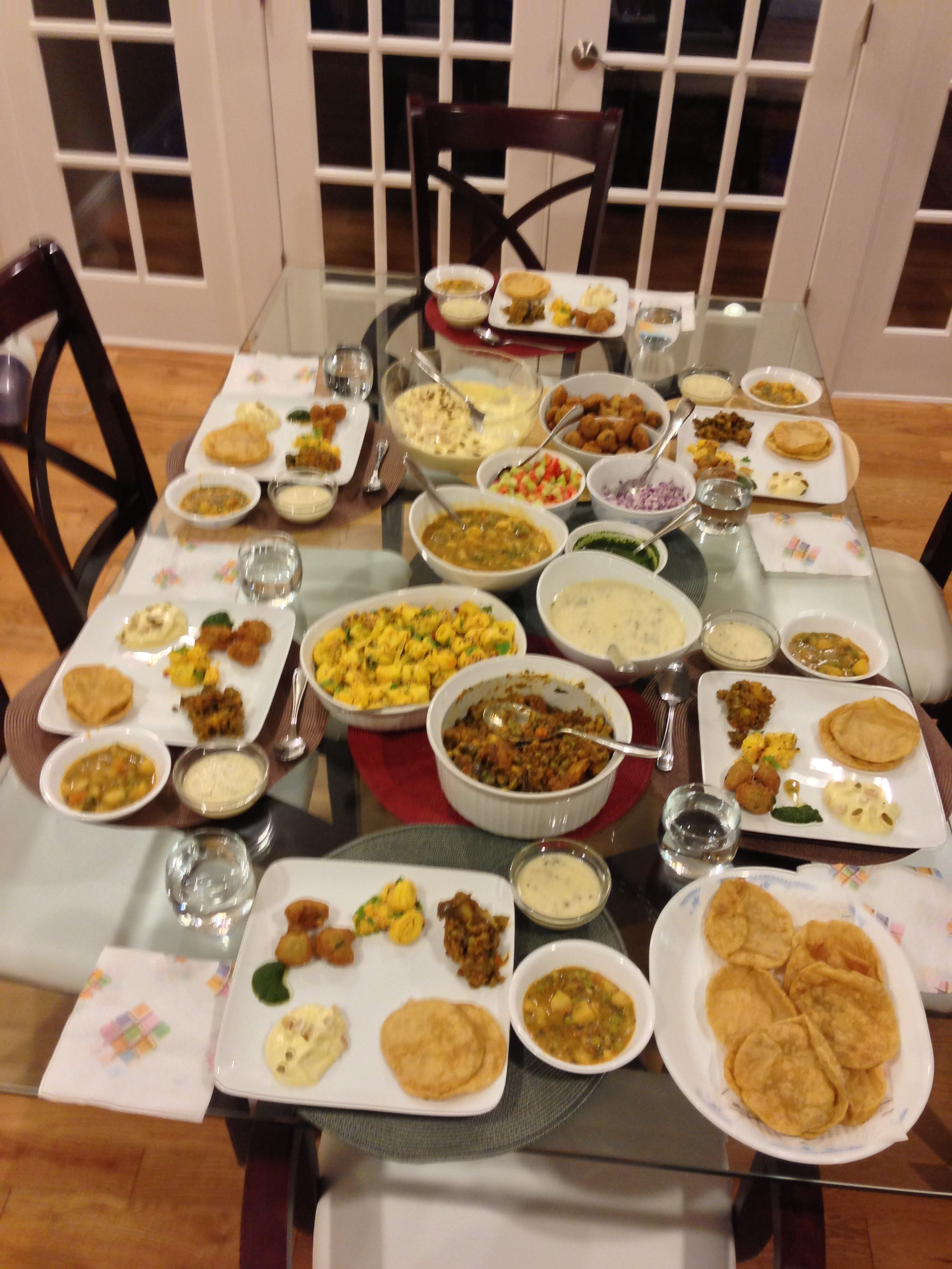 Indian vegetarian Thanksgiving dinner Vegetarian