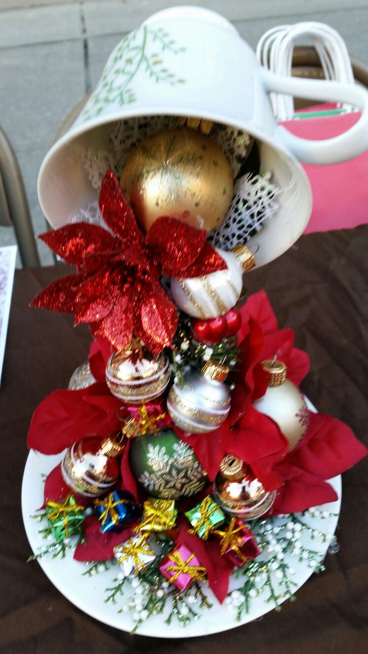 Love this for the holidays! Teacup crafts, Cup and