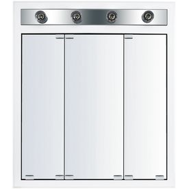 Kraftmaid Traditional 29 3 4 In X 33 3 4 In White Lighted