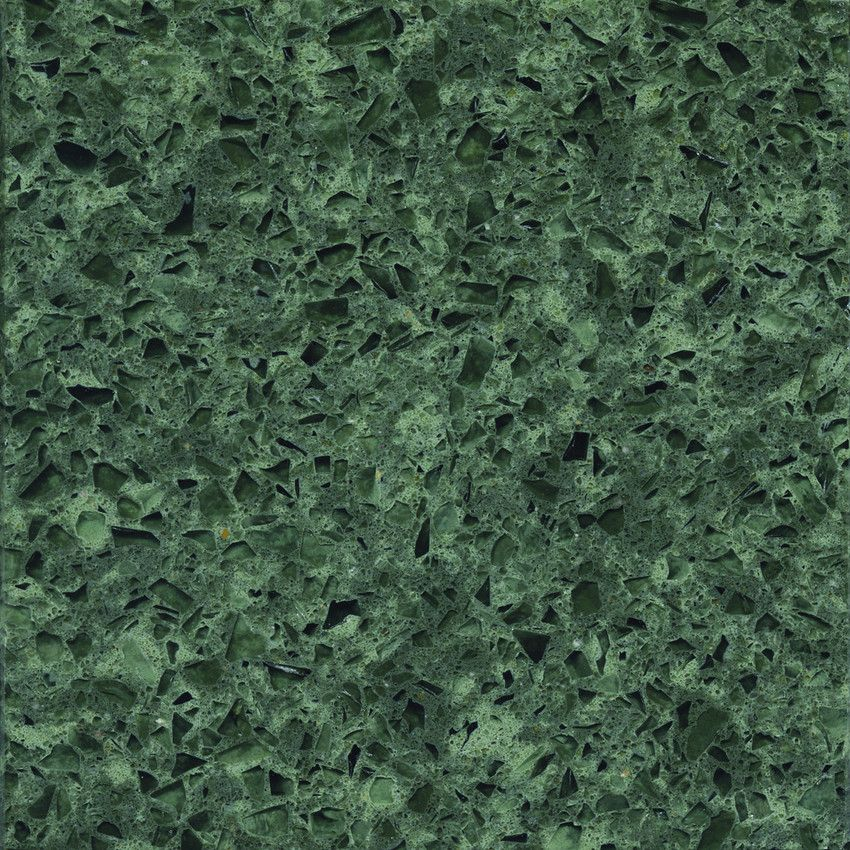 Absolute green by silestone british colonial renovation for Engineered quartz countertop colors