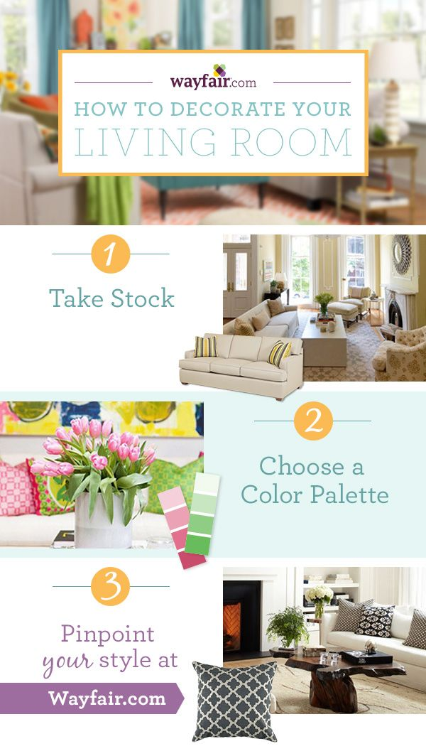 How to decorate your living room jump start your redecorating project in 3 easy steps