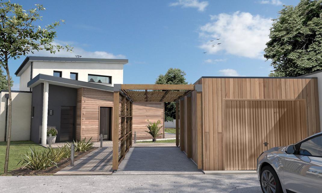 Maison cubique toiture monopente Talmont St Hilaire en 2018