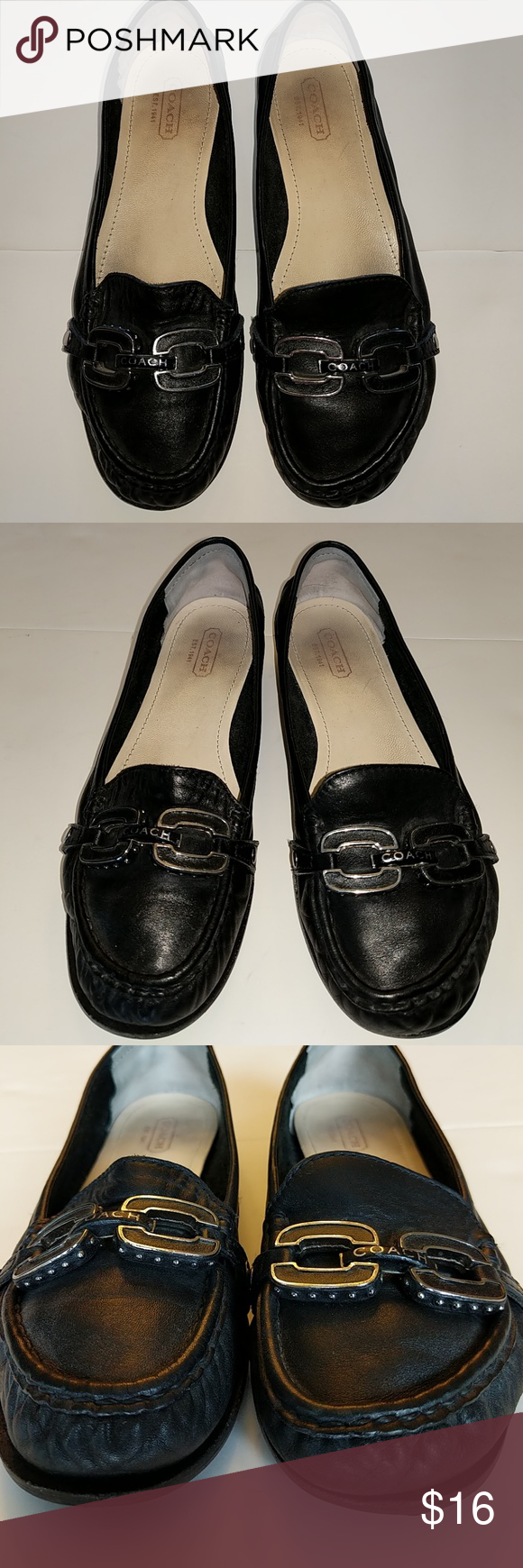 5283c5cd4d5 reduced coach black flat shoes a34d3 45cce