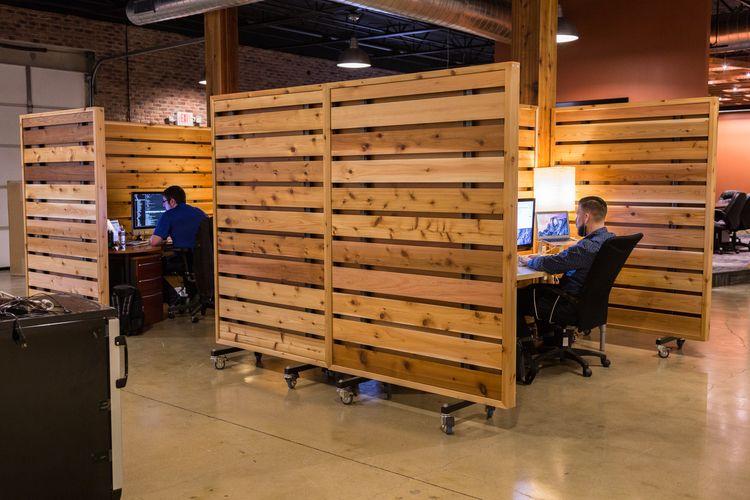 office wall divider. office wall divider partitions. much better than the standard carpet dividers. #officedesignsformen