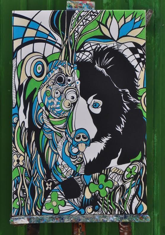 Artwork entitled Sloth Bear by Virginia #print #forsale #sales