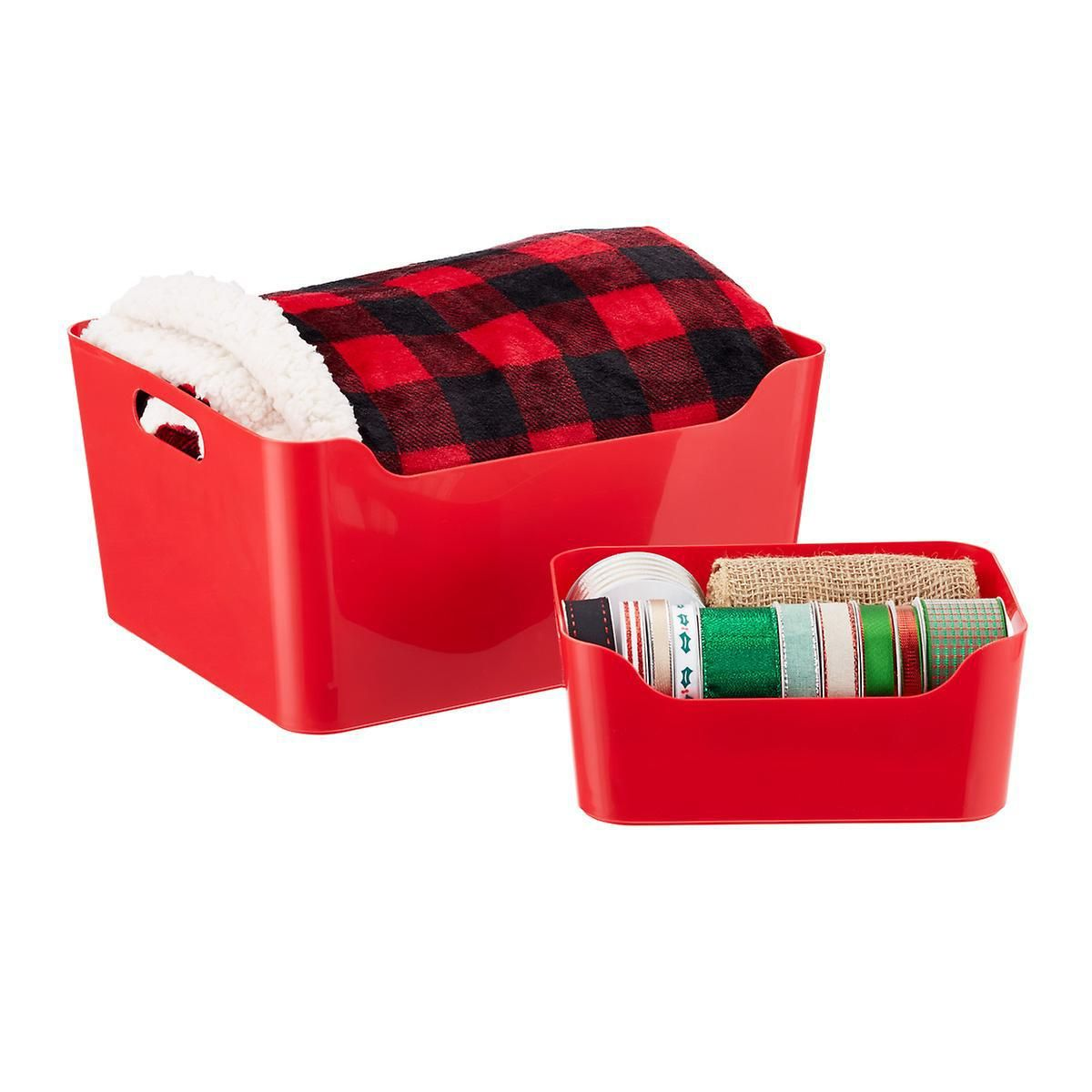 Wherever And Whatever You Need To Organize Our Red Plastic Storage Bins With Handles H Christmas Tree Storage Tote Christmas Tree Storage Plastic Storage Bins