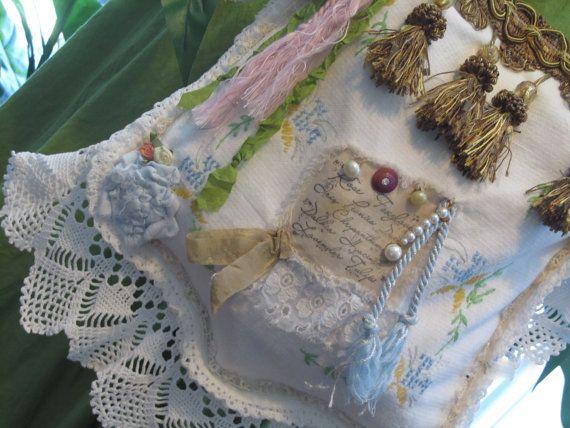 Romantic Victorian Linen Faerie Bag Shabby Chic by NanasSunshine,