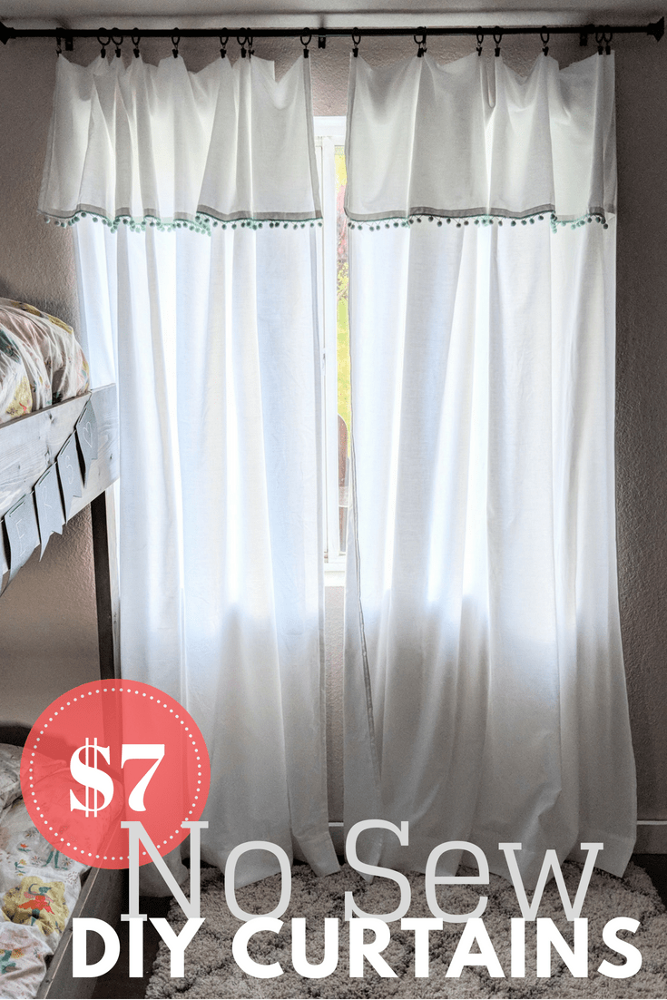 No Sew Diy Curtains Out Of Bed Sheets Easy Diy Tutorial For Boho Style Curtains That Cost Around 7 Each To Pu Diy Curtains Diy Bed Sheets Boho Style Curtains
