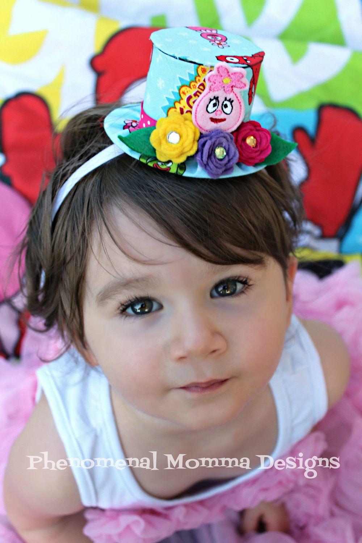 Yo Gabba Gabba Foofa Inspired Birthday Hat