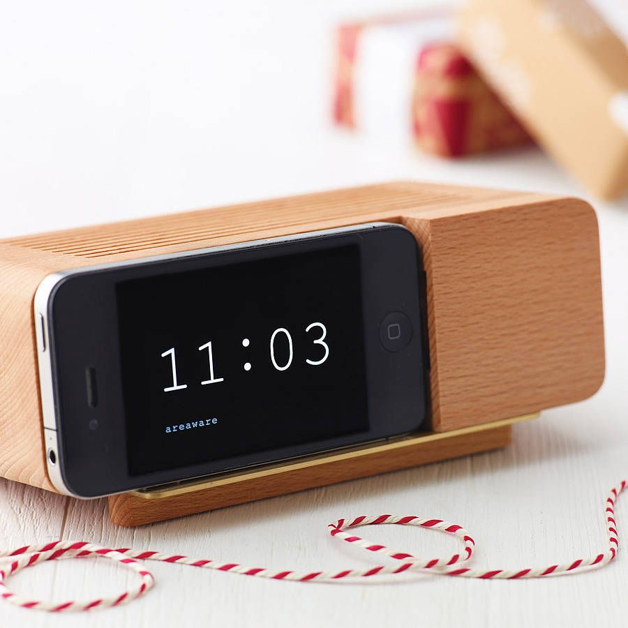 Alarm Clock Holder For Iphone By E Side | Notonthehighstreet.com Great Ideas