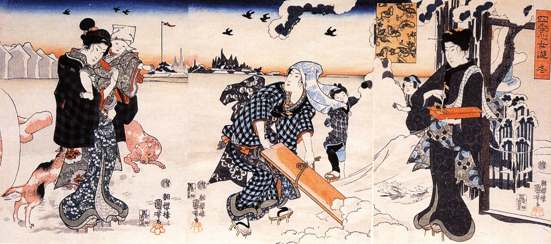 """Winter"" by Utagawa Kuniyoshi (歌川 国芳 1797 1862), from"