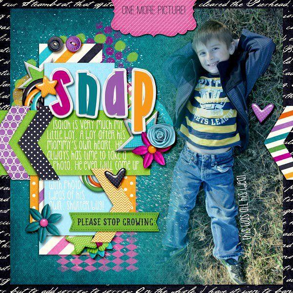 Digital Scrapbook Page by LaShawn | Make Memories by Bella Gypsy