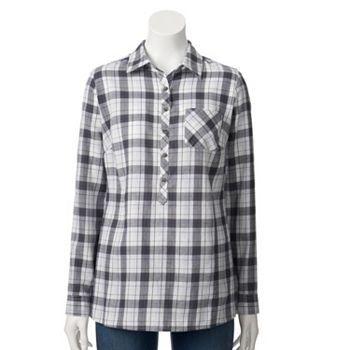 f7e528a88f Croft   Barrow® Plaid Flannel Shirt - Women s