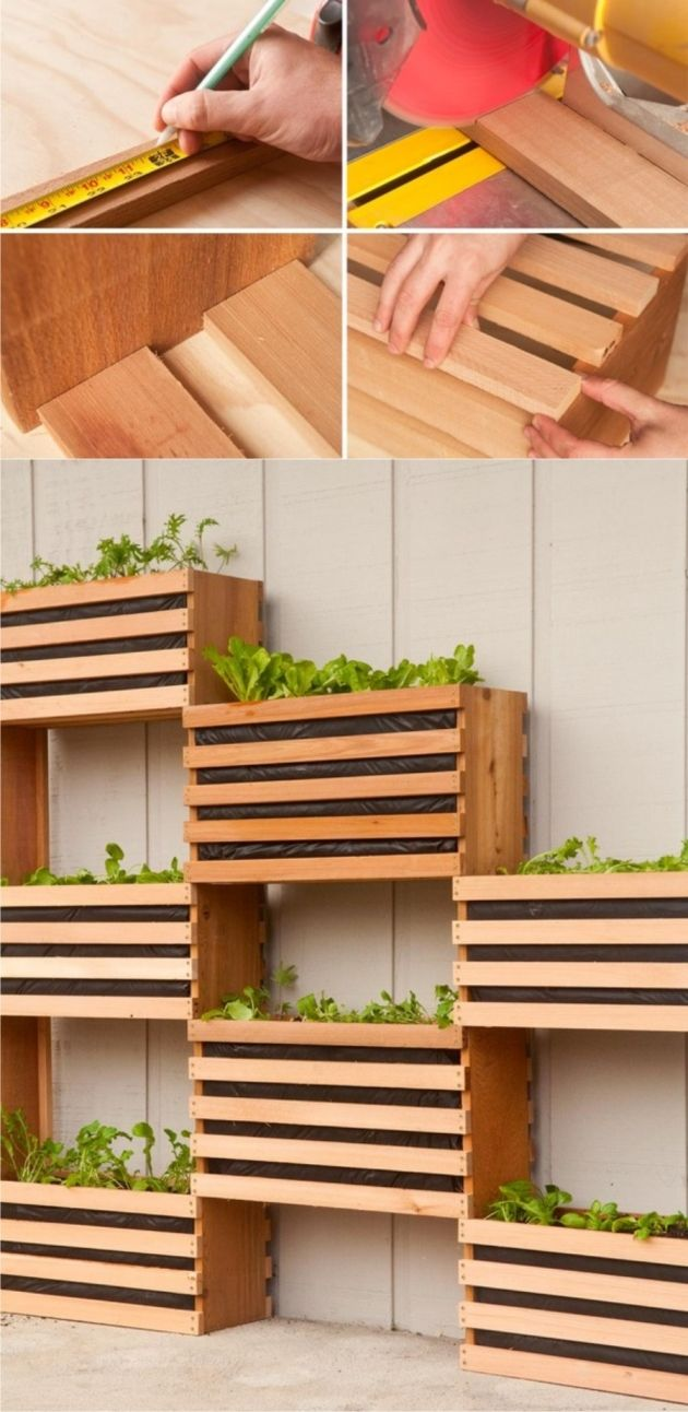 Jard n vertical diy diy home woodwork projects pinterest jardiner a huerto and huerta - Jardin verticale ...