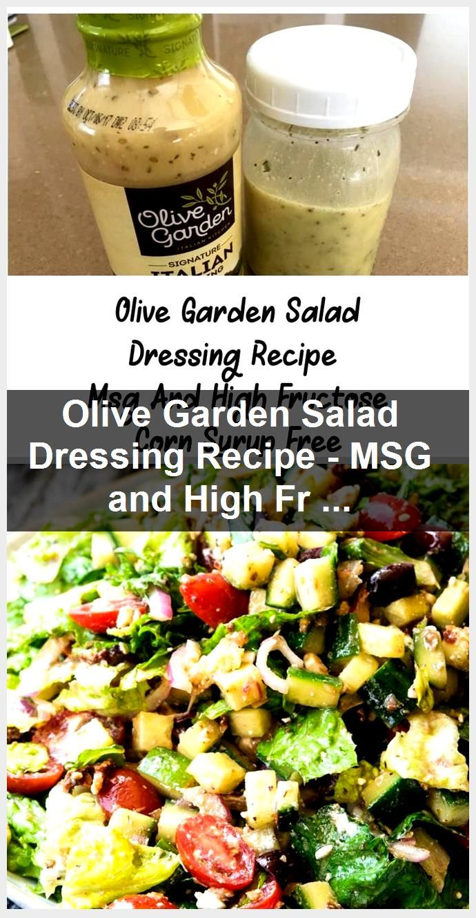 Olive Garden Salad Dressing Recipe MSG and High Fructose