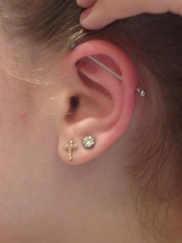 07c808913 #industrial #scaffolding #piercing #barbell #ear #cartilage #straight #upper  #outer #wickedbodyjewelz #lobe #cross