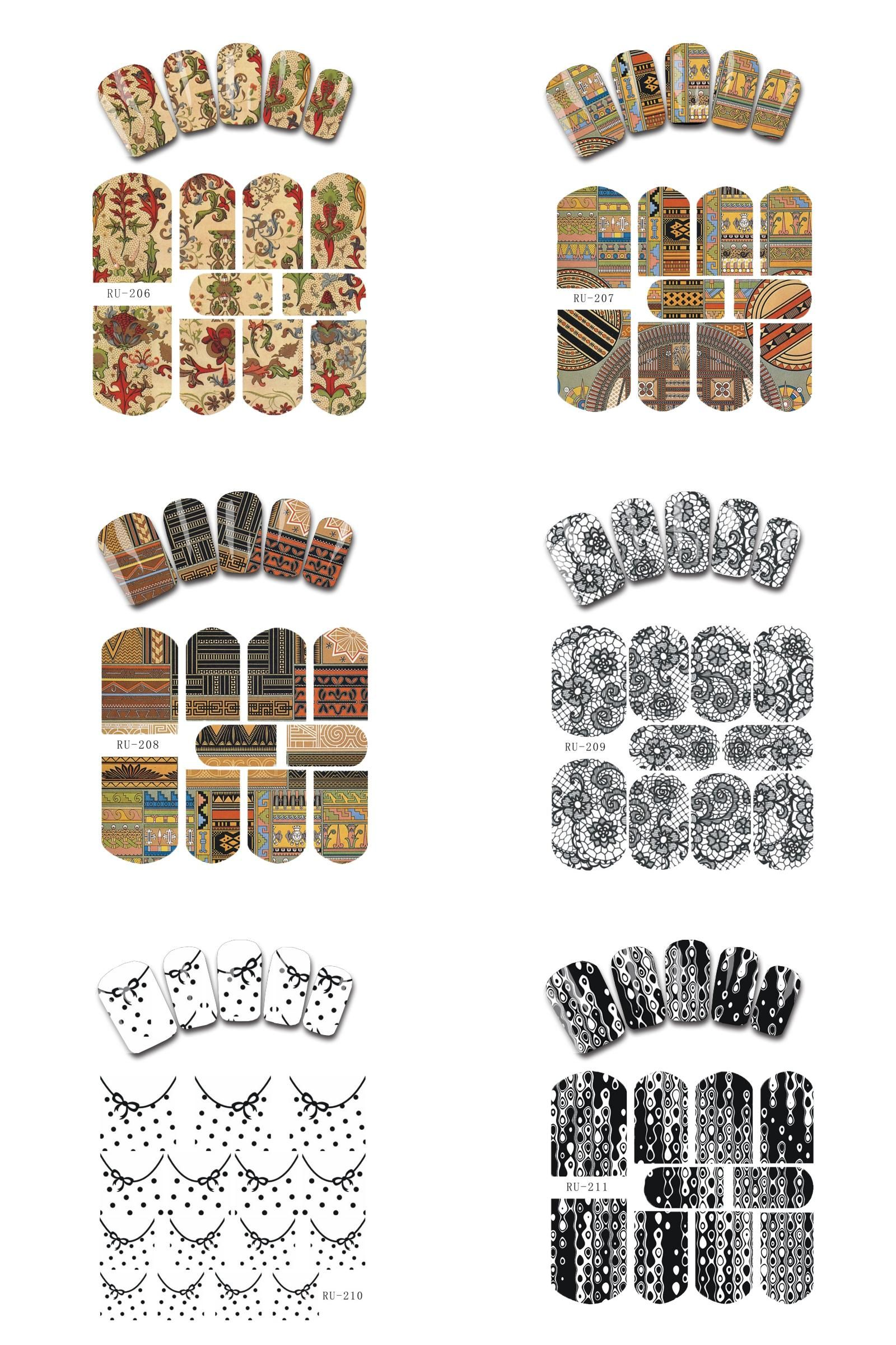 Visit to Buy] Nail Sticker WATER DECAL FLORAL RUSSIA STYLE EXOTIC ...