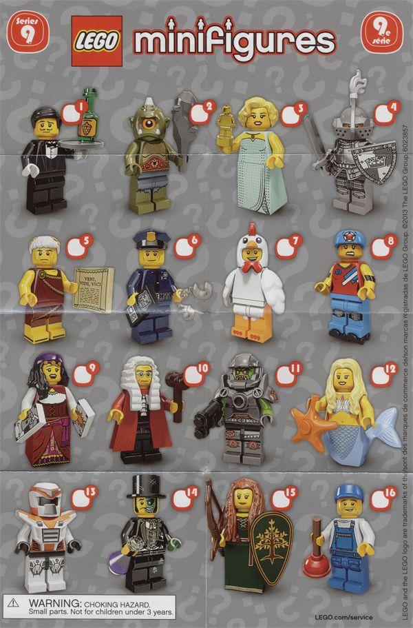 Toyriffic Lego Series 9 Plus Bump Codes Mini Figures Lego Lego Minifigures