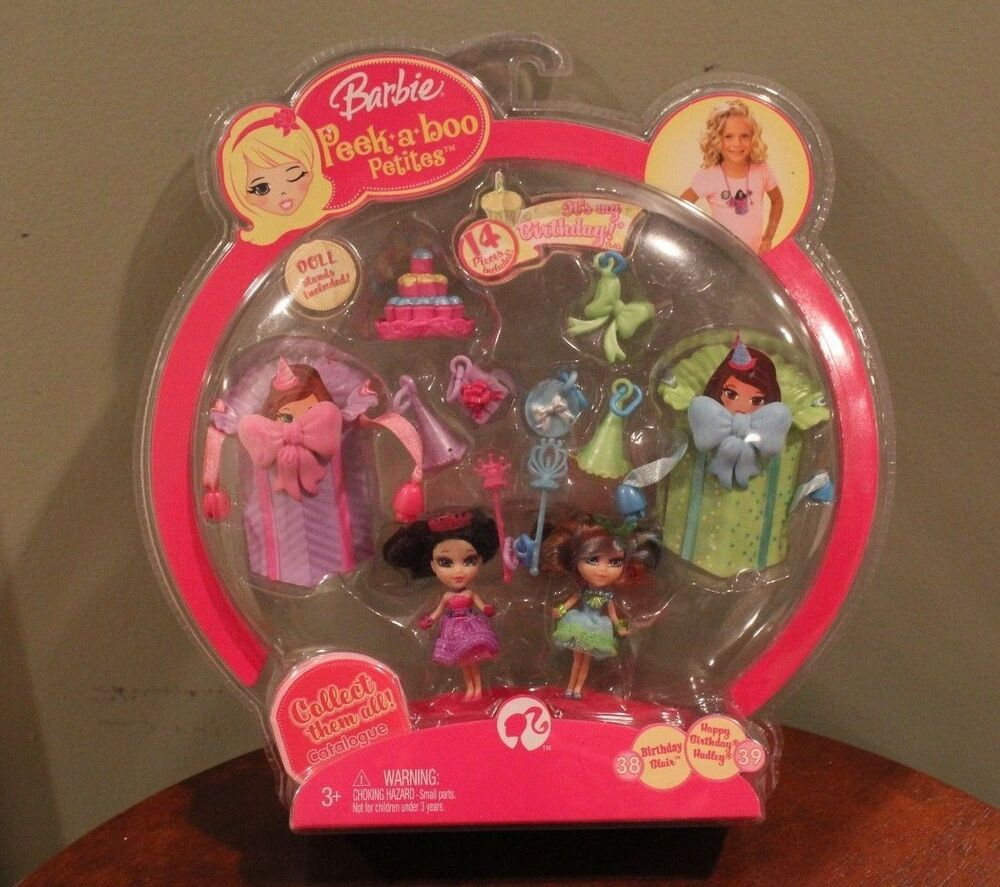Barbie Peek A Boo Petites Its My Birthday Dolls 2 Pack