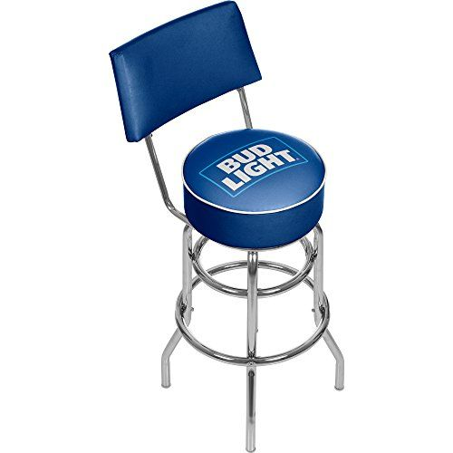 Bud Light Padded Swivel Bar Stool With Back Click For Special