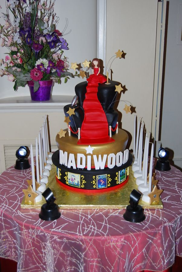 Red Carpet Theme Cakes Hollywood Themed Cake For Madison