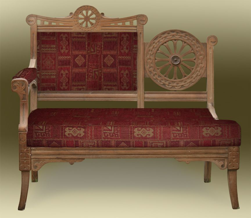 Antique Eastlake Sofa: Eastlake Parlor Loveseat