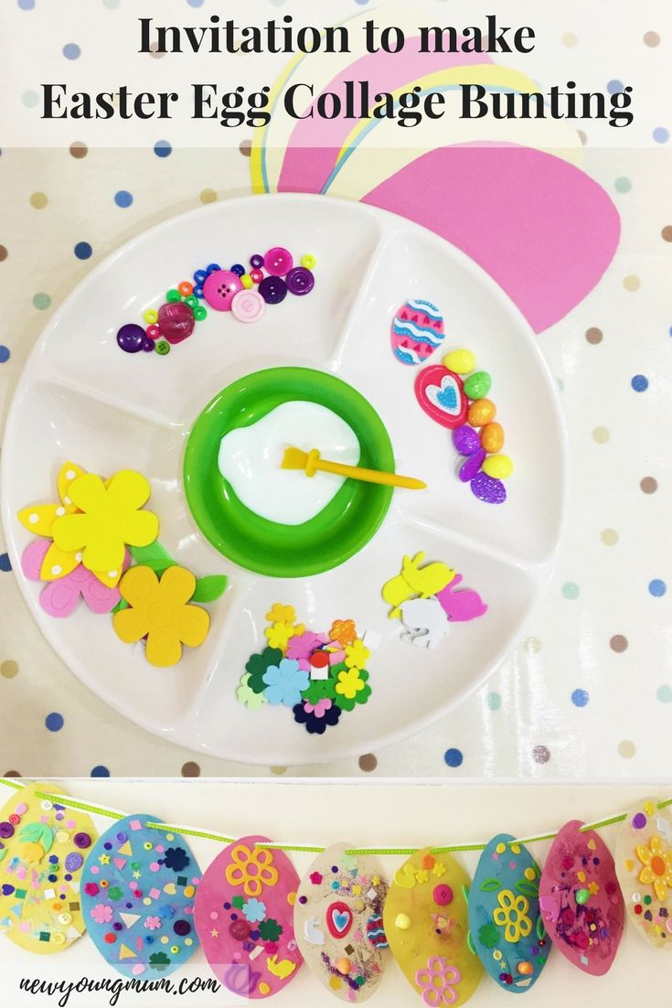 Easter Egg Collage Bunting Simple Kids Craft Pinterest