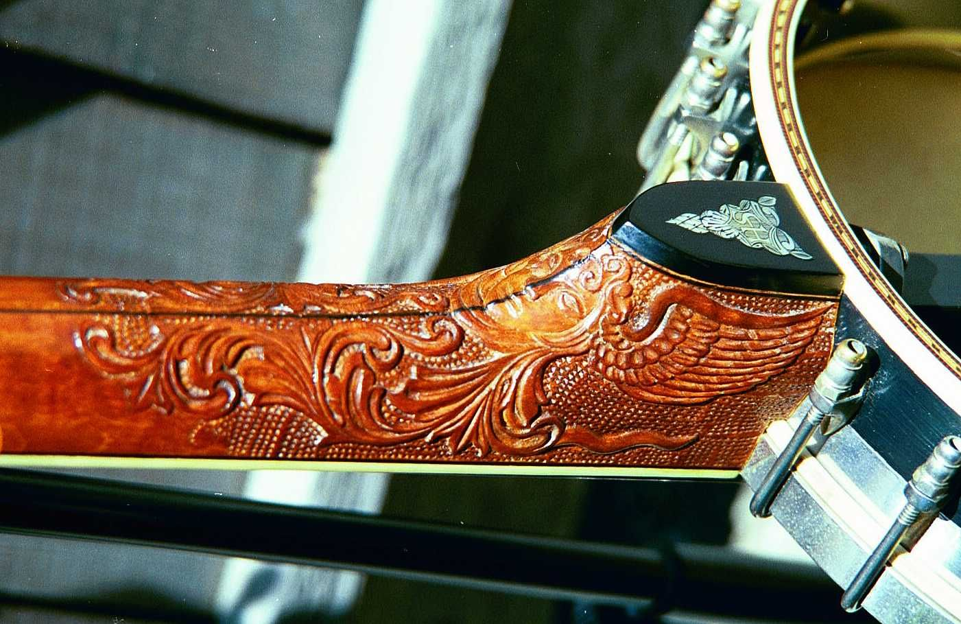"This ""cherub"" heel carving is similar to that on the ""Irving Berlin"" Presentation Whyte Laydie."