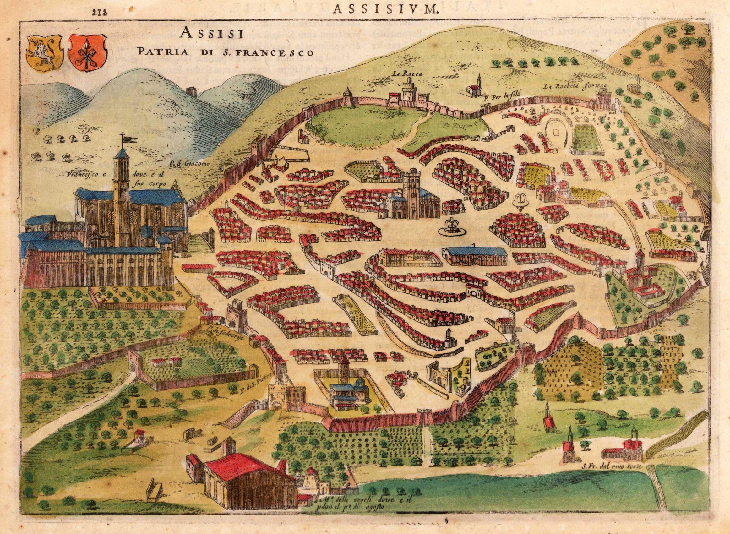 Antique Map Assisi Hondius, Jodocus, Jr.   Antique maps   Pinterest ...