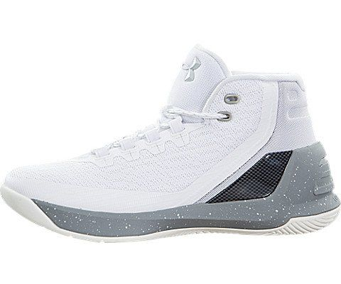 8a1a9a3628a6 Under Armour GS Curry 3 Youth US 4 White Basketball Shoe.