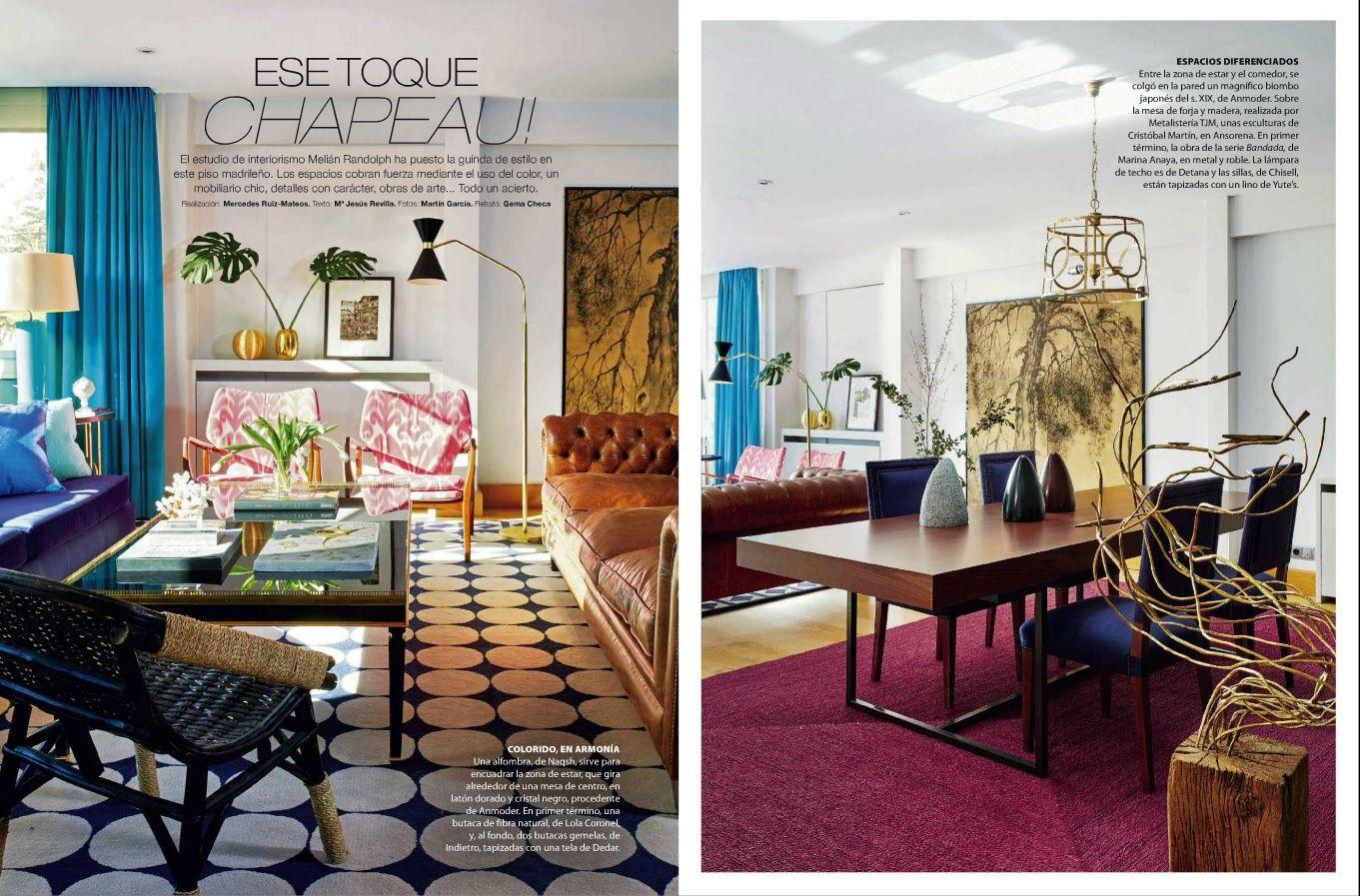 Reportaje En La Revista Nuevoestilo Del Mes De Marzo Stylemelianrandolph Deco Design Interiors Deco Revistas Prensa