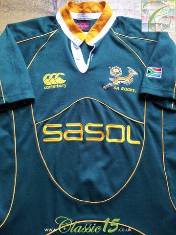 2efb01eb7cd Relive South Africa's 2007/2008 international season with this vintage  Canterbury home rugby shirt.