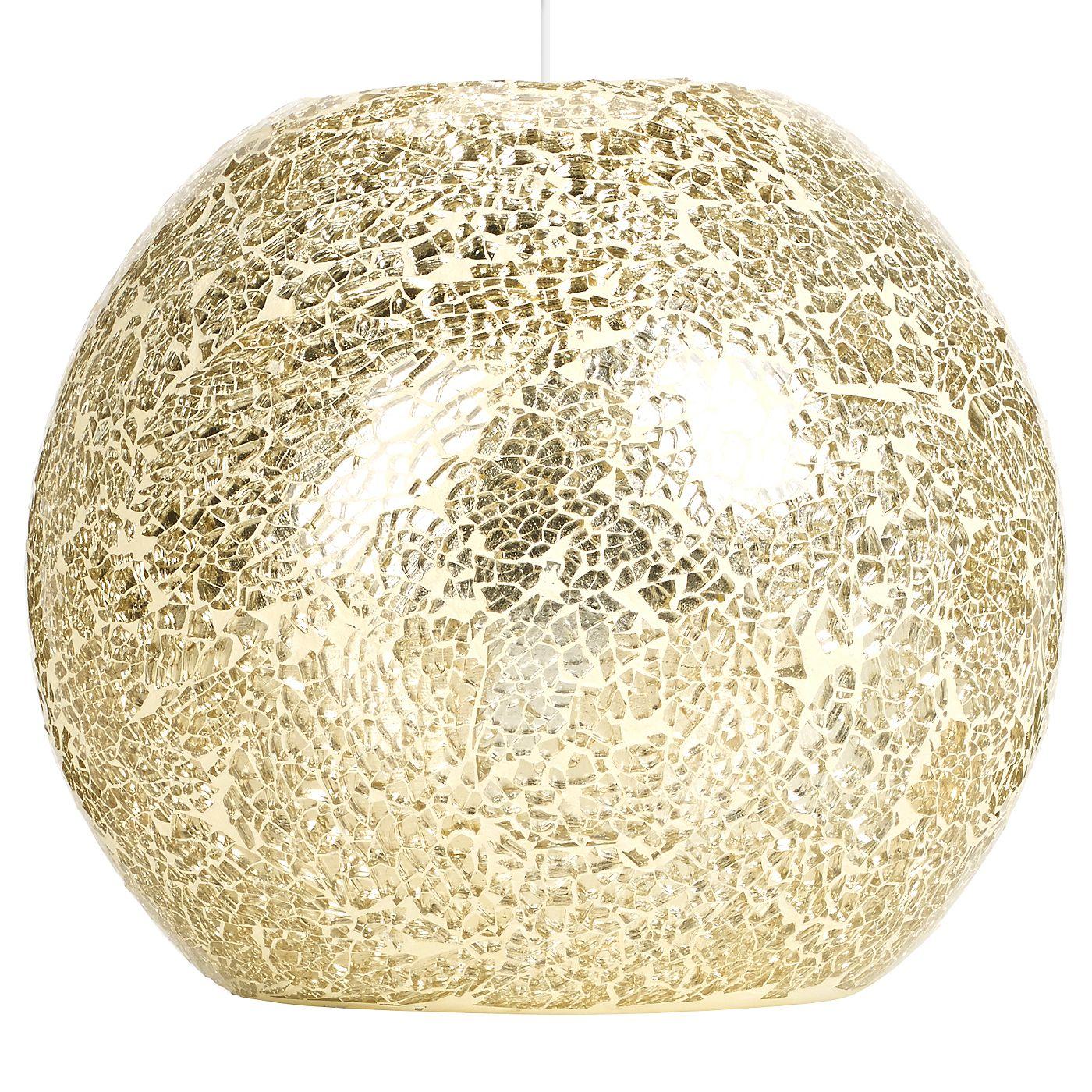 George Home Champagne Mosaic Pendant Light Shade Pendant Lighting Asda Direct Light Shades