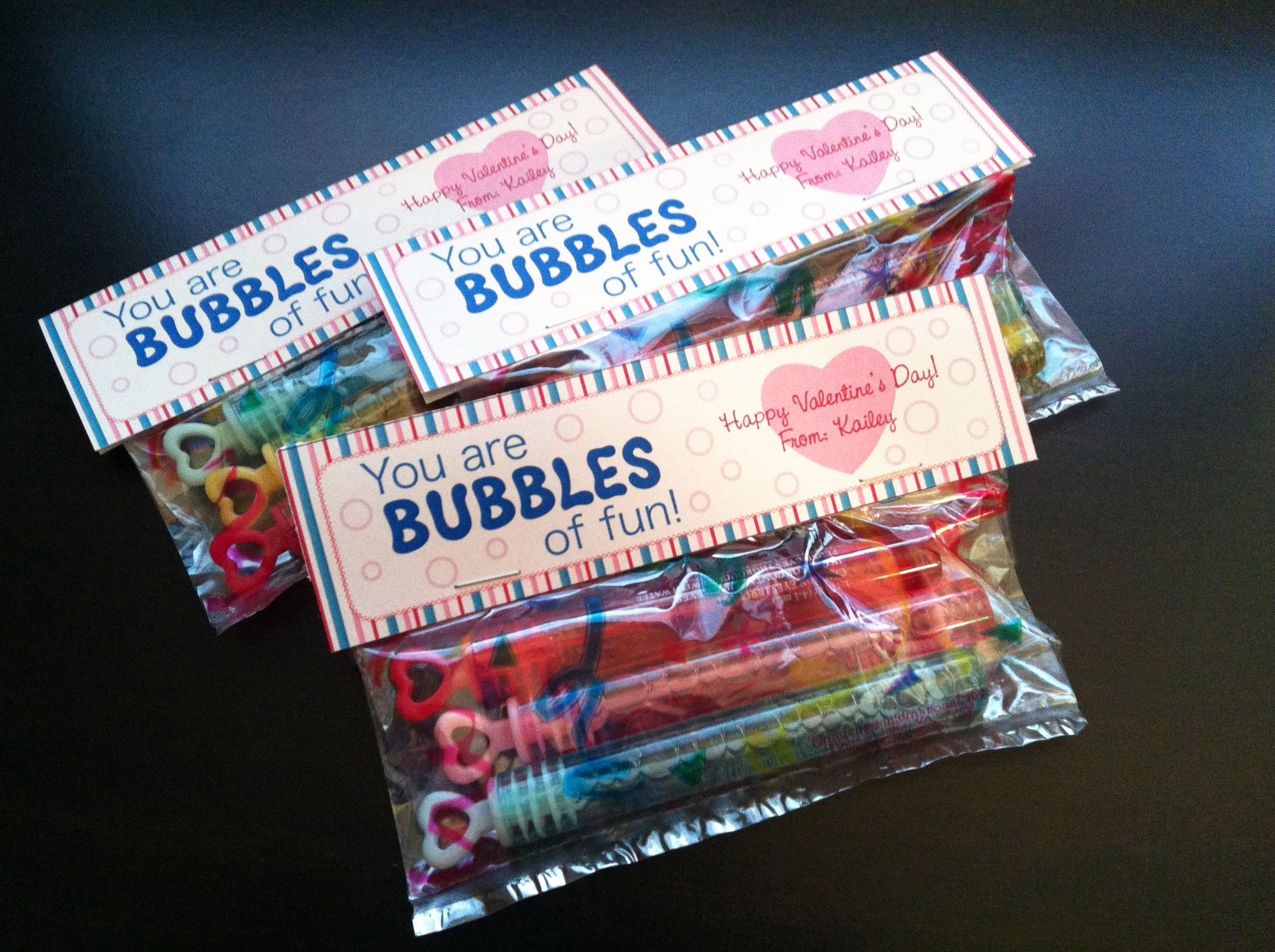 Kaileys valentines gift for her daycare buddiesn candy treat valentines gift for daycare buddiesn candy treat pinner designed a label and bought bubbles with little heart wands from target dollar tree treat negle Gallery