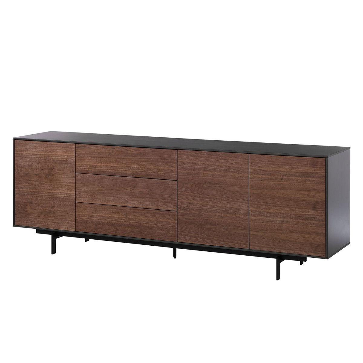 Sideboard Payara - Walnuss / Schwarz, Eva Padberg Collection Jetzt ...