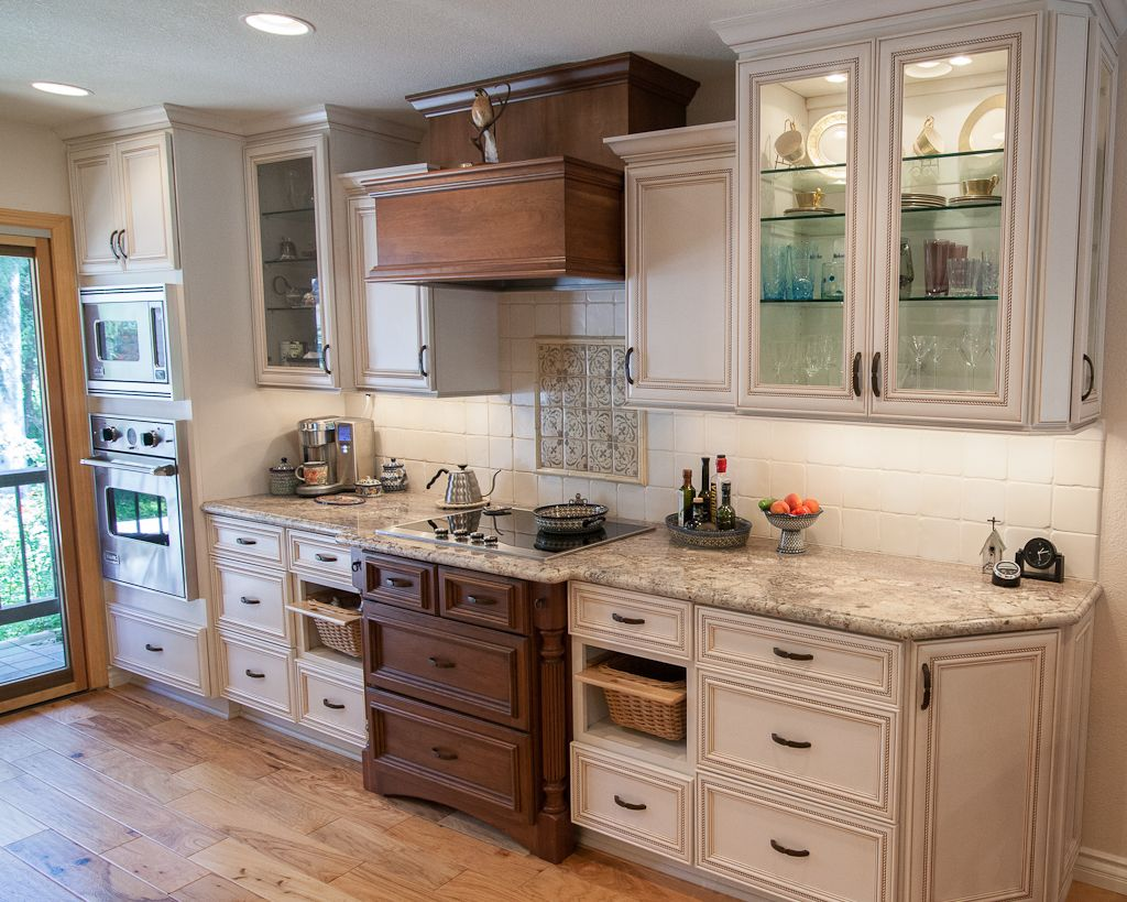 Dynasty by omega cabinetry in the marco kentwood door for Butternut kitchen cabinets