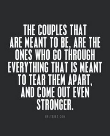 Go through struggles to make you stronger relationship ...