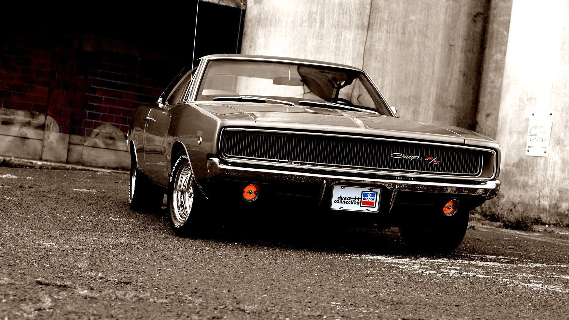 1970 Dodge Charger Rt Wallpaper 1920x1080 For Ipad Pro Garage