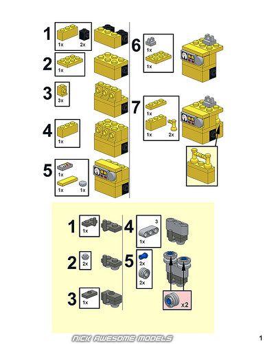 Wall E Instructions Lego Pinterest Lego Lego Instructions And