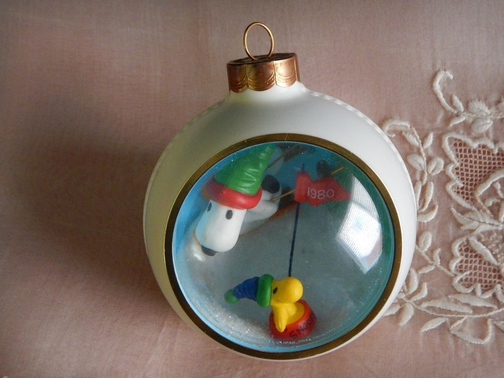 Vintage Hallmark Snoopy Panorama Ornament 1980 | Christmas ...