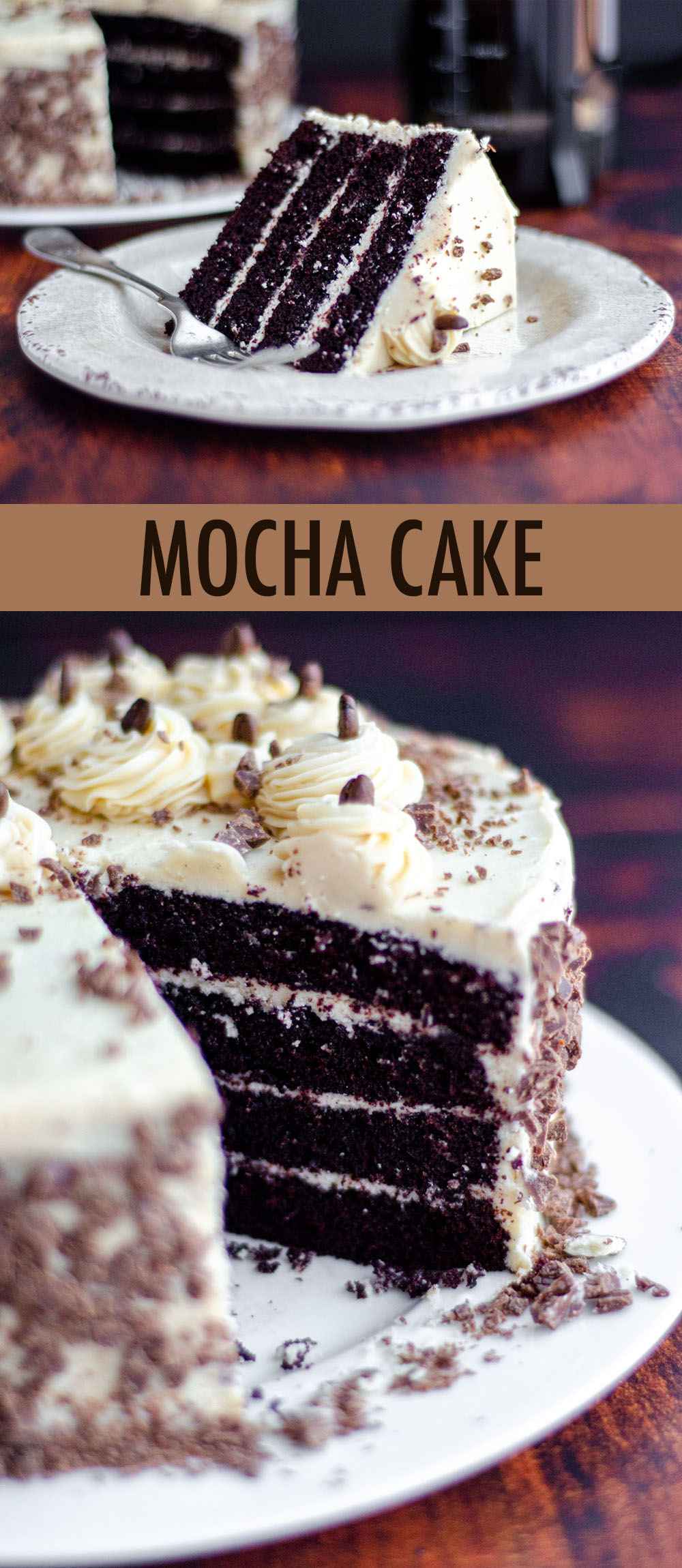 Mocha Cake With Coffee Buttercream Recipe In 2020 Coffee Flavored Cake Recipe Mocha Cake Chocolate Cake With Coffee