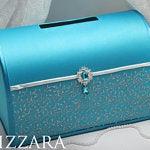 Wedding card box Turquoise and grey wedding Wedding card box ideas Turquoise wedding ideas Card box wedding Turquoise and silver wedding #turquoisecoralweddings