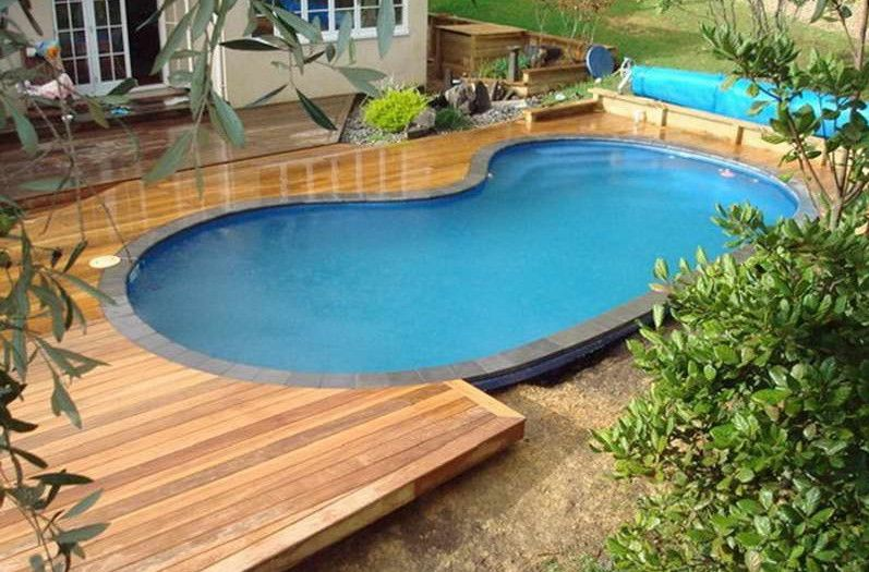 16 Gorgeous Pool Deck Designs And Ideas To Inspire Your Backyards Usedabovegroundpooldeck Decks Around Pools Swimming Pools Backyard Backyard Pool