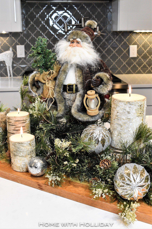 Rustic Winter Christmas Centerpiece Elegant Christmas Decor Christmas Vignettes Christmas Centerpieces