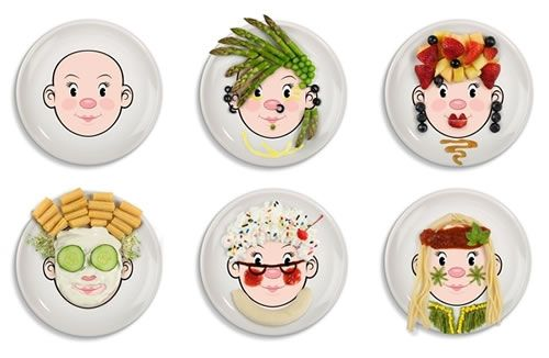 Ms Food Face Dinner Plate Play With Your Food!  sc 1 st  Pinterest & Ms Food Face Dinner Plate: Play With Your Food!   Dinners Food and ...