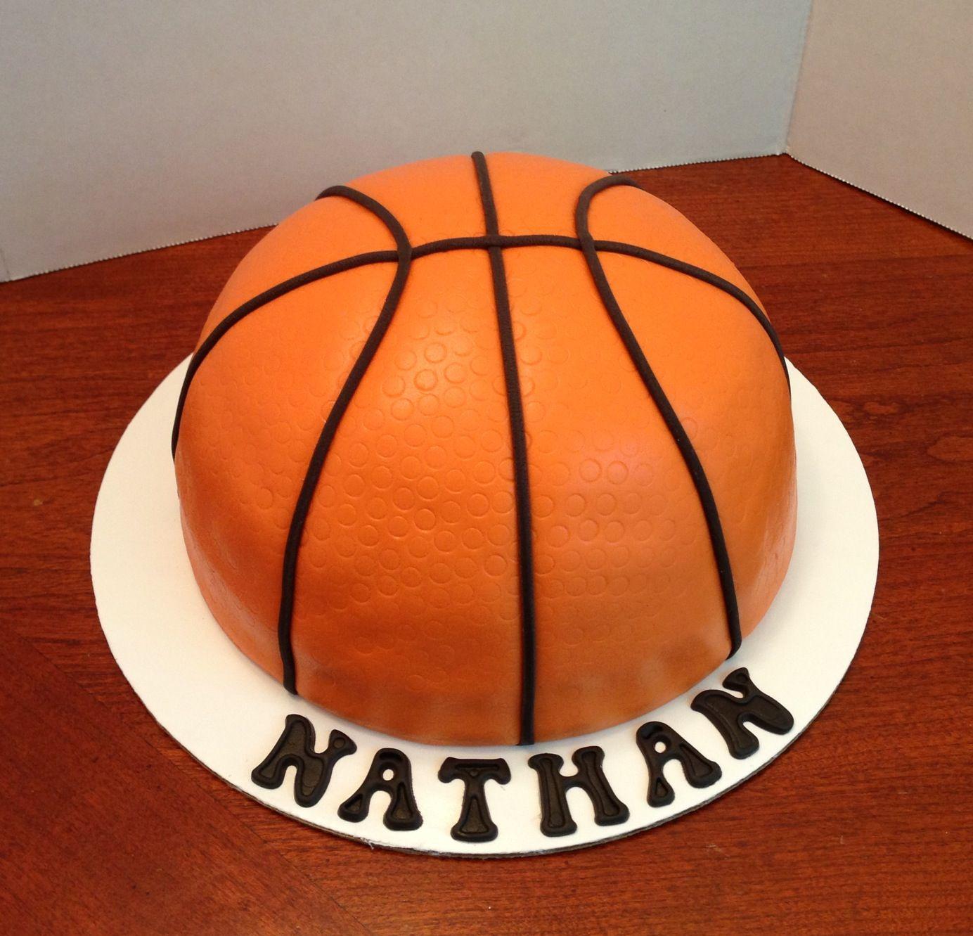 Half Basketball Cake All Fondant Karen Reeves Custom Cakes In