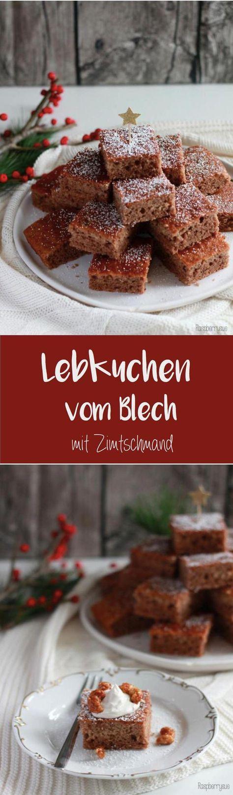 {Last Minute Inspiration} Lebkuchen vom Blech mit Zimtschmand und unser Weihnachtsmenü